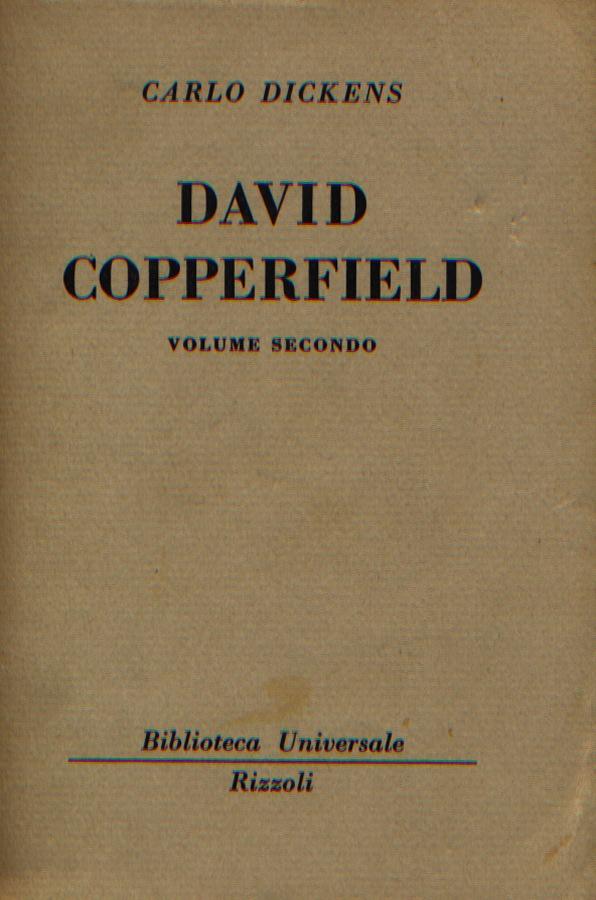 David Copperfield - Vol. Secondo