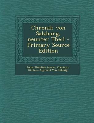 Chronik Von Salzburg, Neunter Theil