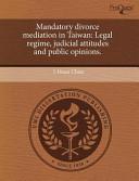 Mandatory Divorce Mediation in Taiwan