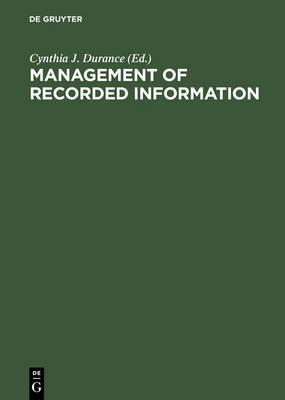 Management of Recorded Information