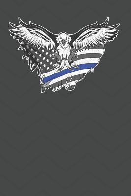 Thin Blue Line Eagle Flag Journal Notebook