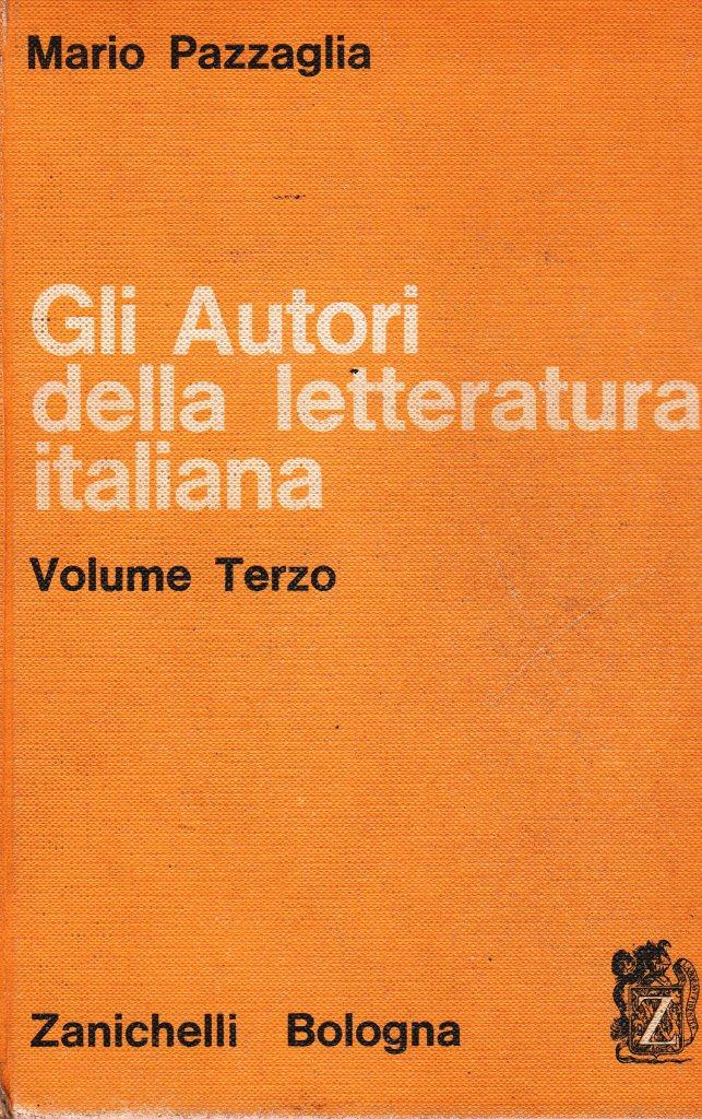 Gli autori della letteratura Italiana - vol. 3