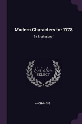 Modern Characters for 1778