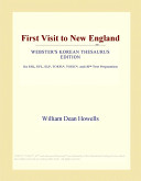 First Visit to New England (Webster's Korean Thesaurus Edition)