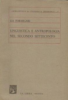 Linguistica e antropologia nel secondo Settecento