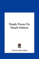 Simple Poems on Simple Subjects