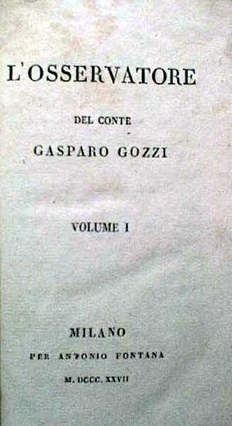 L'Osservatore del conte Gasparo Gozzi