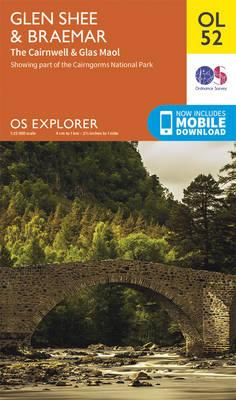OS Explorer OL52 Glen Shee & Braemar