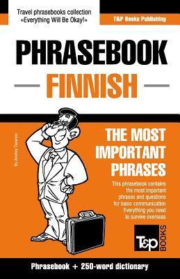 English-Finnish phrasebook and 250-word mini dictionary