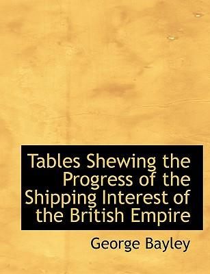 Tables Shewing the Progress of the Shipping Interest of the British Empire