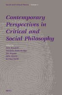 Contemporary perspectives in critical and social philosophy