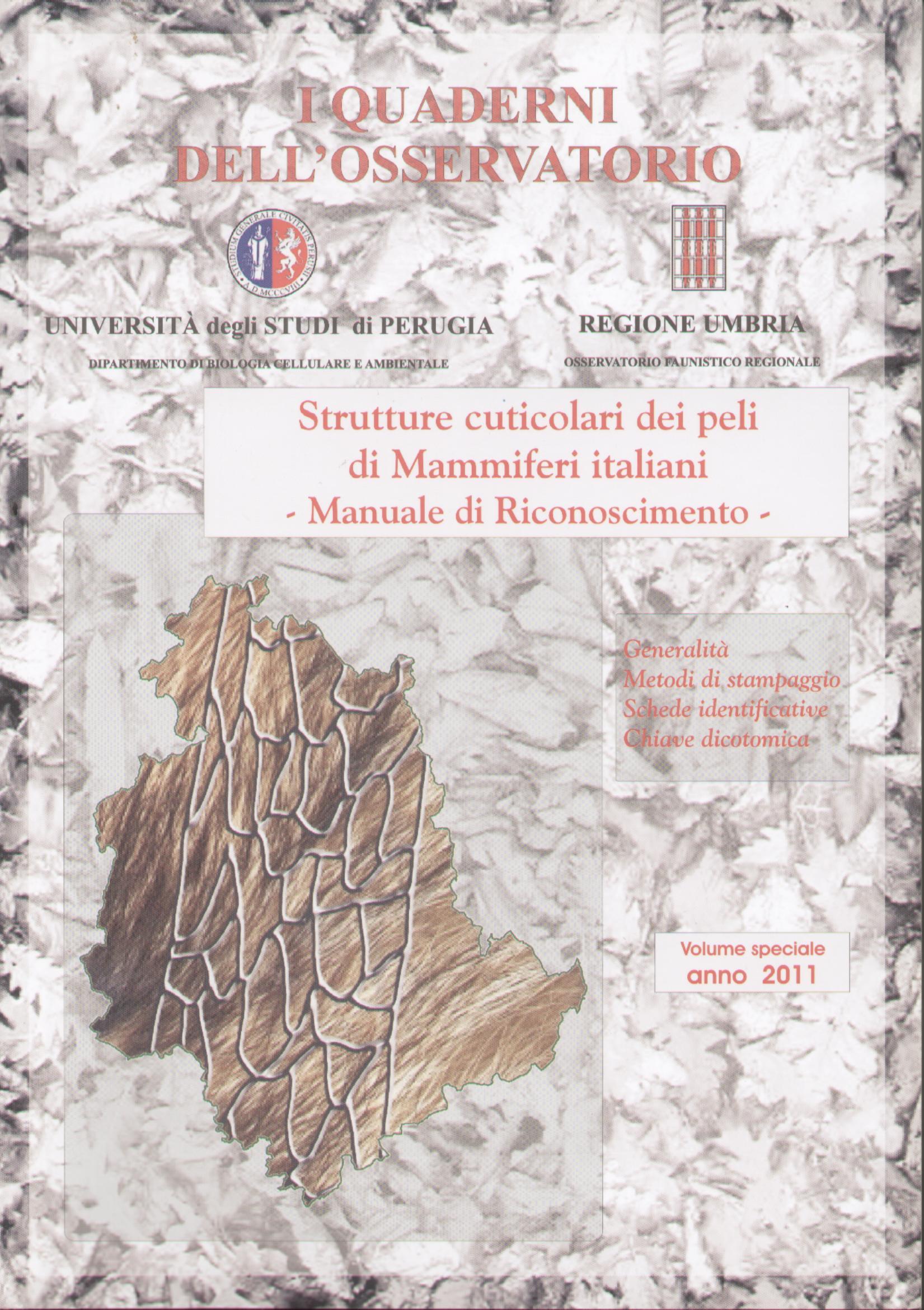 Strutture cuticolari dei peli di Mammiferi italiani