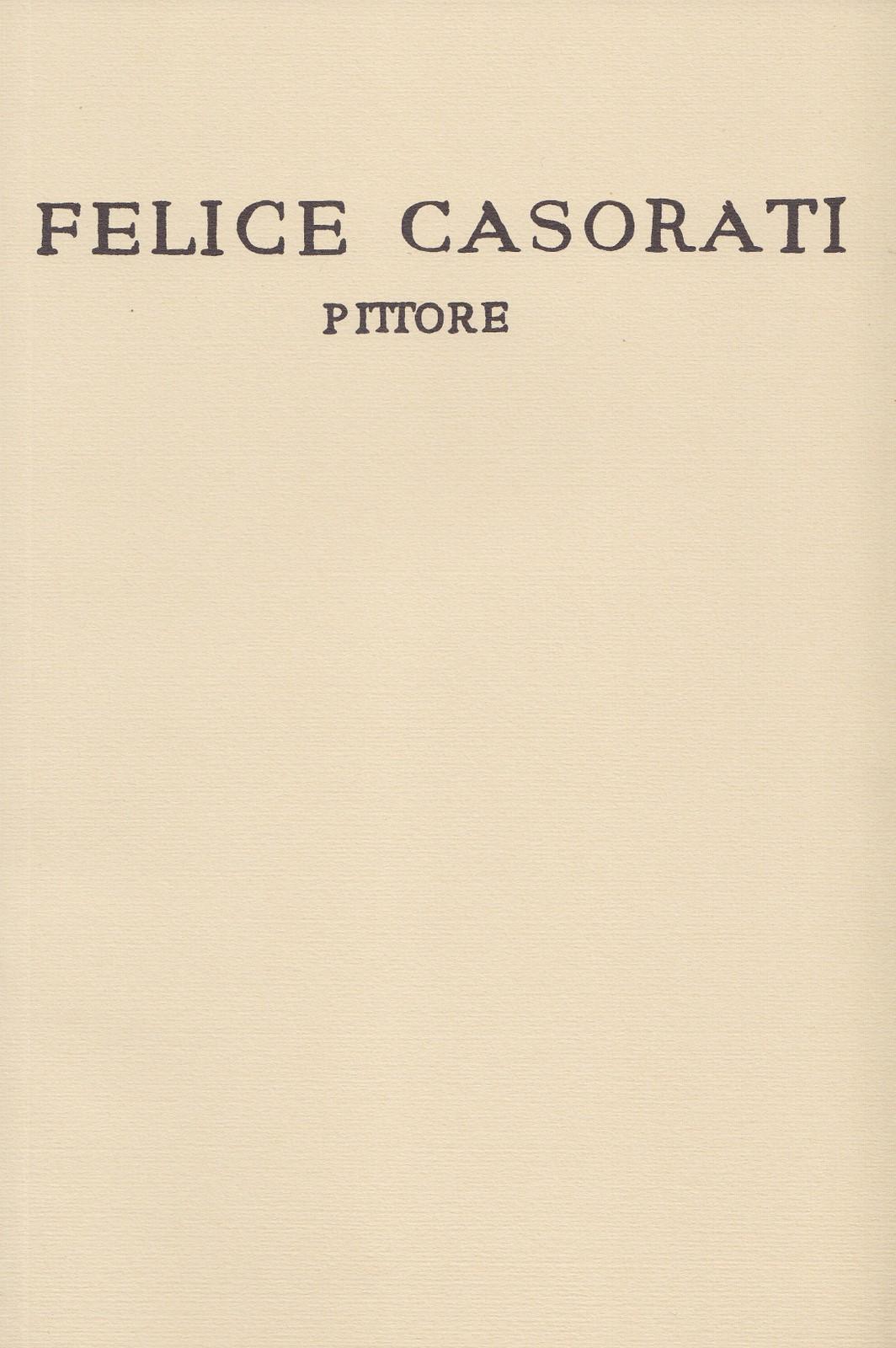 Felice Casorati. Pit...