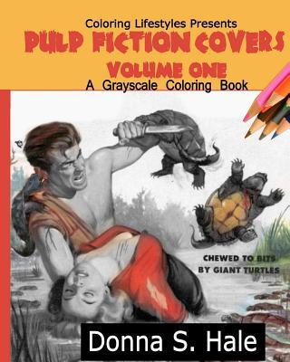 Pulp Fiction Covers Grayscale Coloring Book