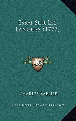 Essai Sur Les Langues (1777)