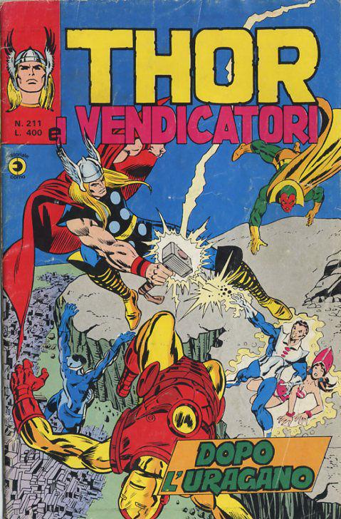 Thor e i Vendicatori (Il Mitico Thor) n. 211