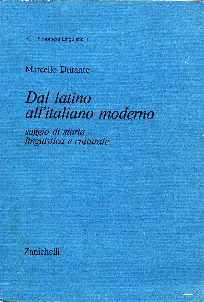 Dal latino all'italiano moderno