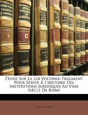 Tude Sur La Loi Voconia