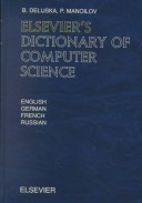 Elsevier's Dictionary of Computer Science in English, German, French, and Russian