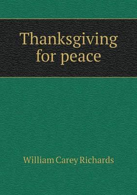 Thanksgiving for Peace