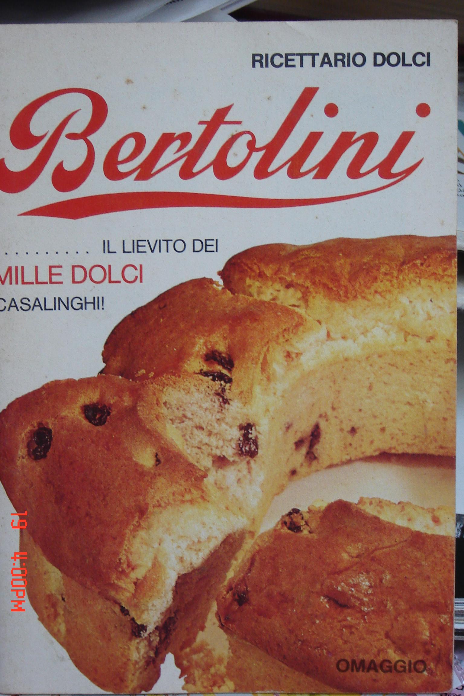 Ricettario dolci Bertolini