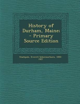 History of Durham, Maine;