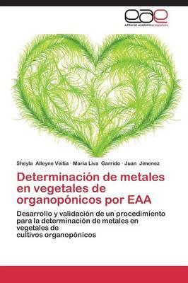 Determinación de metales en vegetales de organopónicos por EAA
