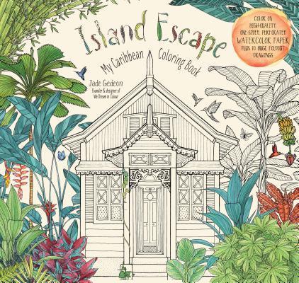Island Escape Adult Coloring Book