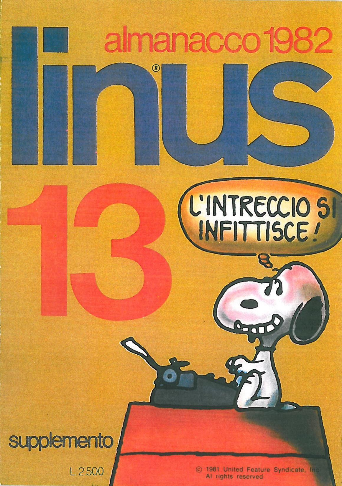 Linus 13 - Almanacco 1982