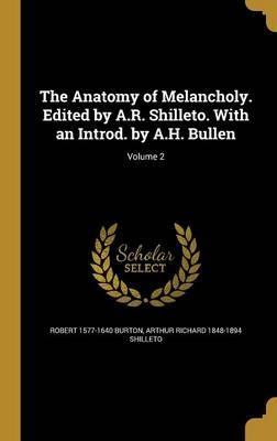 ANATOMY OF MELANCHOLY EDITED B