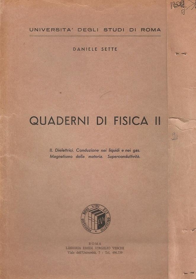 Quaderni di fisica II