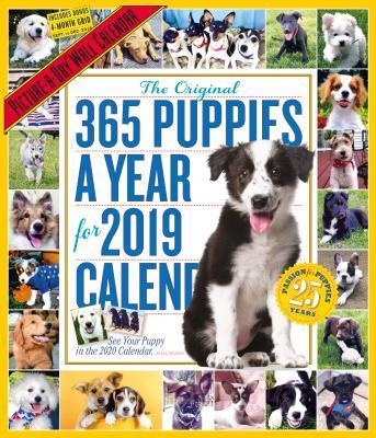 The Original 365 Puppies a Year 2019 Calendar