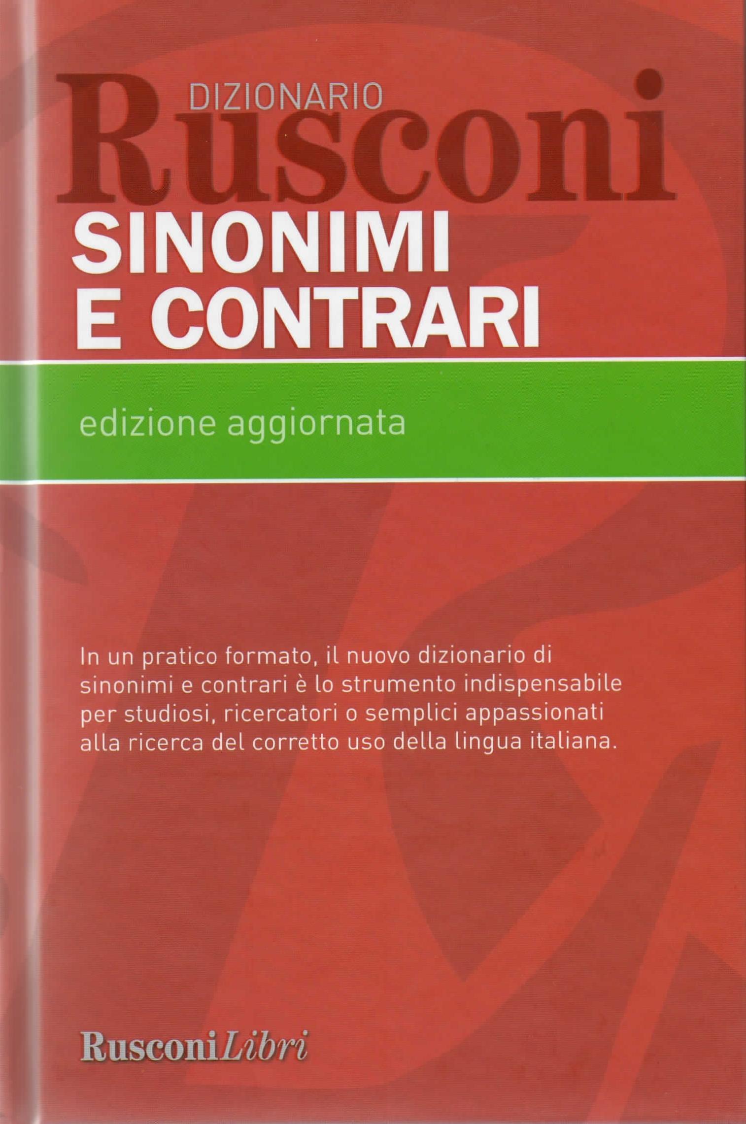 Dizionario Rusconi Sinonimi e Contrari
