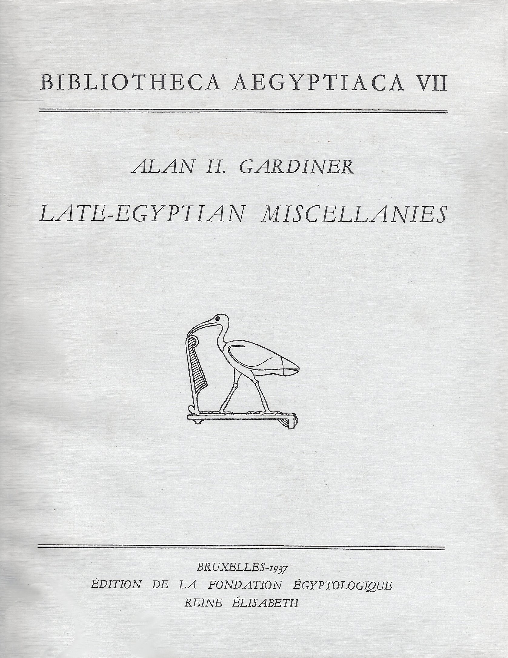 Late-Egyptian miscellanies