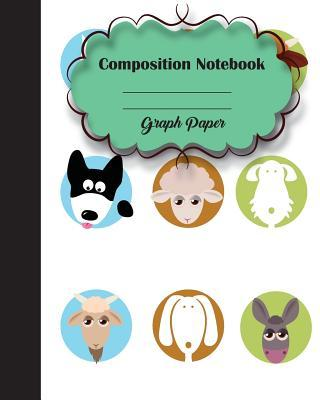 """Graph Rued Composition Notebook 8"""" X 10"""",120 Pages, Pet Potter Style Seamless"""
