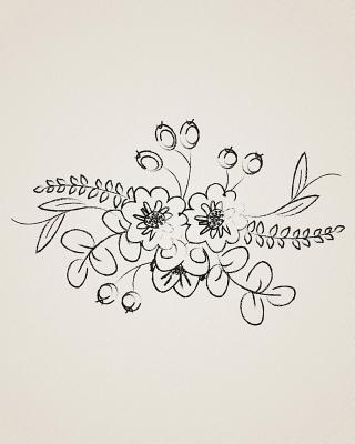 Bullet Grid Floral Journal