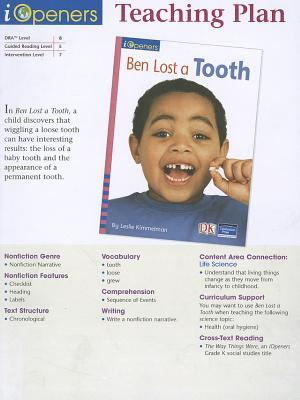 Ben Lost a Tooth Teaching Plan, Grade K