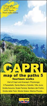 Map of the paths of the Isle of Capri. Scale 1