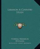 Lebanon a Country Study