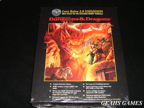 Advanced Dungeons and Dragons Core Rules 2.0 Expansion CD-ROM