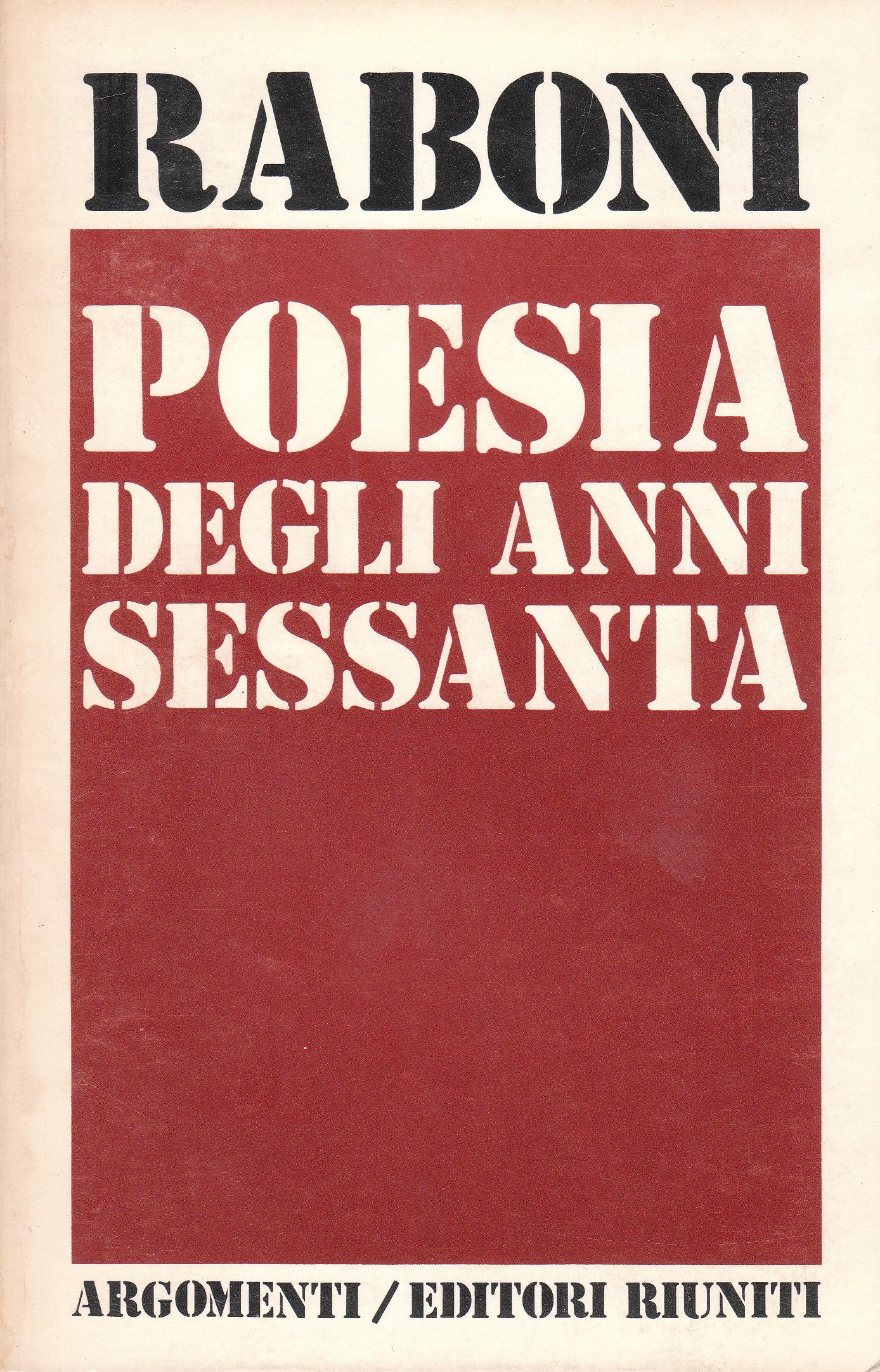Poesia degli anni sessanta