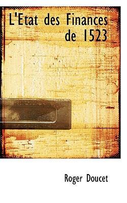 L' Tat Des Finances de 1523