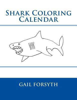 Shark Coloring Calendar