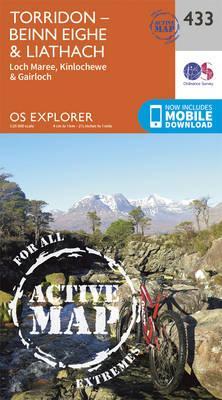 OS Explorer Map Active (433) Torridon - Beinn Eighe and Liathach