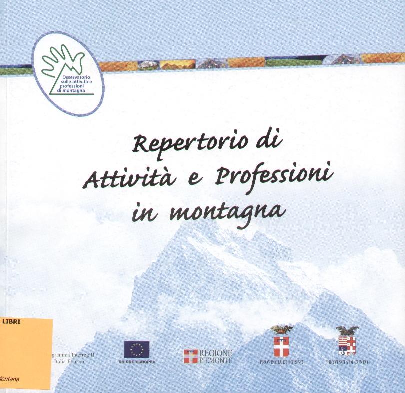 Repertorio di attività e professioni in montagna