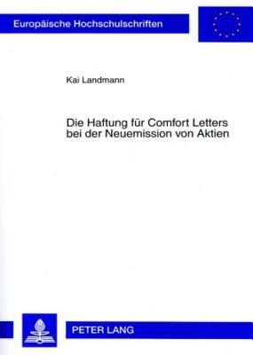 Die Haftung für Comfort Letters bei der Neuemission von Aktien