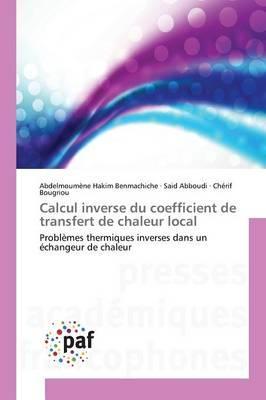 Calcul Inverse du Coefficient de Transfert de Chaleur Local