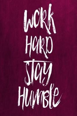 Chalkboard Journal Work Hard Stay Humble, Pink
