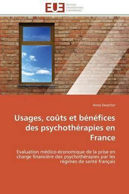 Usages, Couts et Benefices des Psychotherapies en France