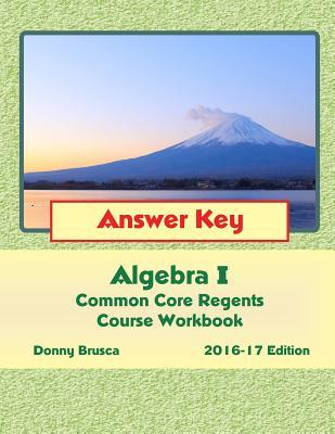 Algebra I Common Core Regents Course 2016-17